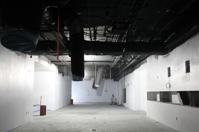 The gaming area of Aztec Lanes will feature an exposed ceiling.
