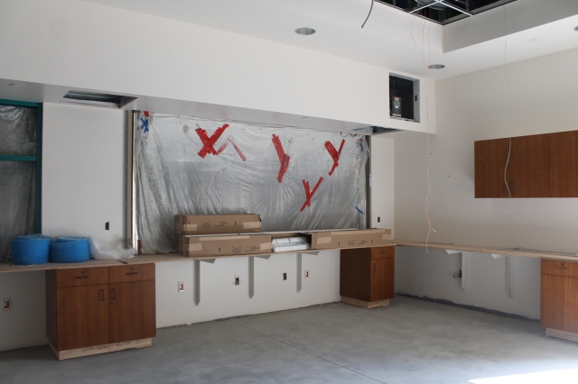 The new University Information Center gets ready for its occupants.